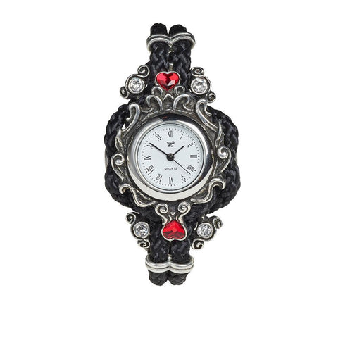 Domestic Platypus- Affiance Watch, Alchemy Gothic Wristwatch - Fine Pewter and Leather-Watch-[meta description]