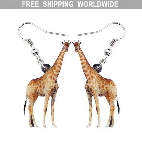 Giraffe Acrylic Earrings