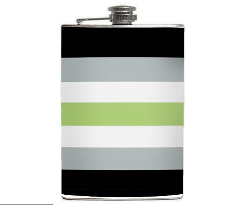 Agender Pride Flask - Domestic Platypus