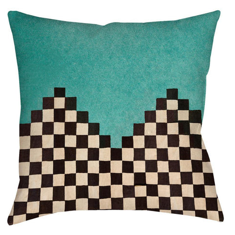 Andeska Teal Throw Pillow - Domestic Platypus
