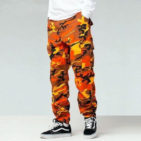 At Ease Baggy Color Camo Cargo Pants