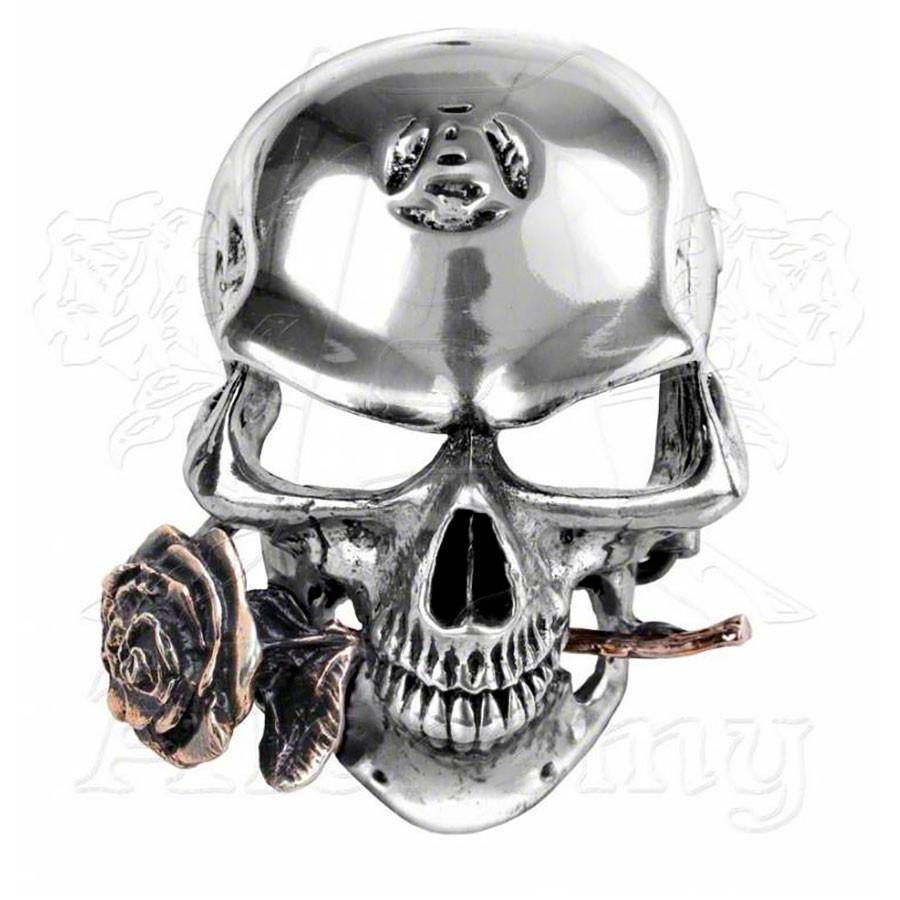 Alchemy Gothic ALCHEMIST REX Skull & Rose Belt Buckle - Domestic Platypus