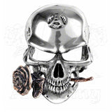 Alchemy Gothic ALCHEMIST REX Skull & Rose Belt Buckle