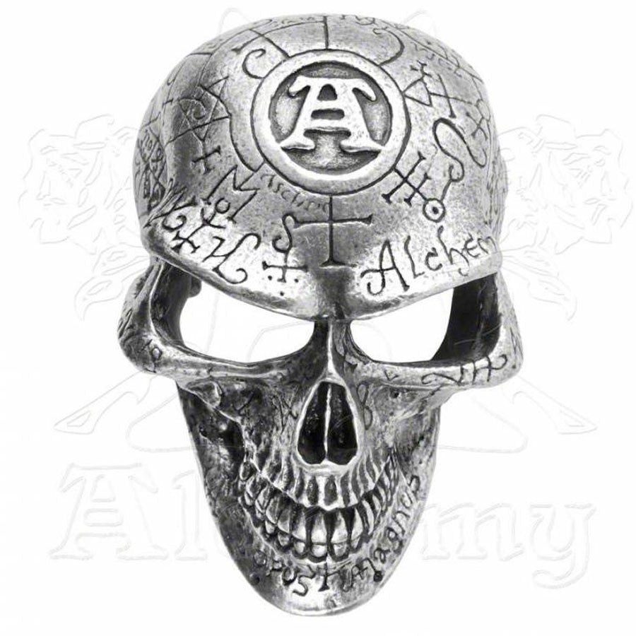 Alchemy Gothic OMEGA SKULL Belt Buckle - Domestic Platypus