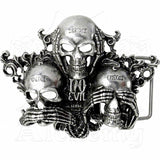 Alchemy Gothic NO EVIL Belt Buckle - Domestic Platypus