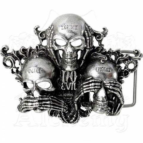 Alchemy Gothic NO EVIL Belt Buckle