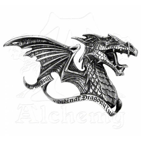 Alchemy Gothic DRACUL'S CREED Dragon Belt Buckle - Domestic Platypus
