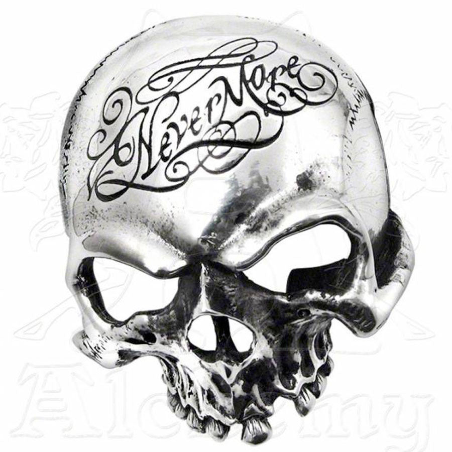 Alchemy Gothic NEVERMORE Skull Belt Buckle - Domestic Platypus