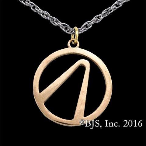 BORDERLANDS Bronze Vault Symbol Necklace