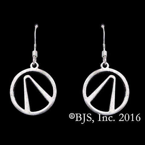 BORDERLANDS Sterling Silver Vault Symbol Earrings