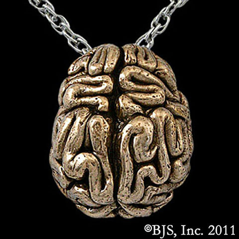 Bronze BRAIN Pendant Necklace - Domestic Platypus