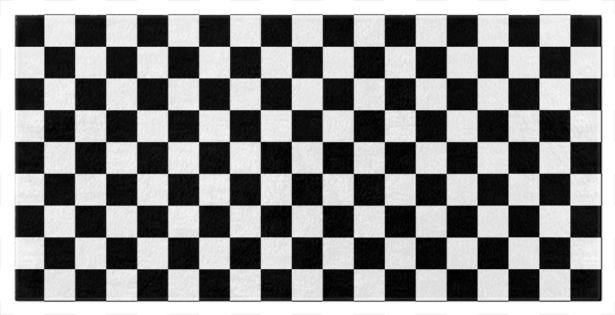 Black and White Checkered Beach and Bath Towels
