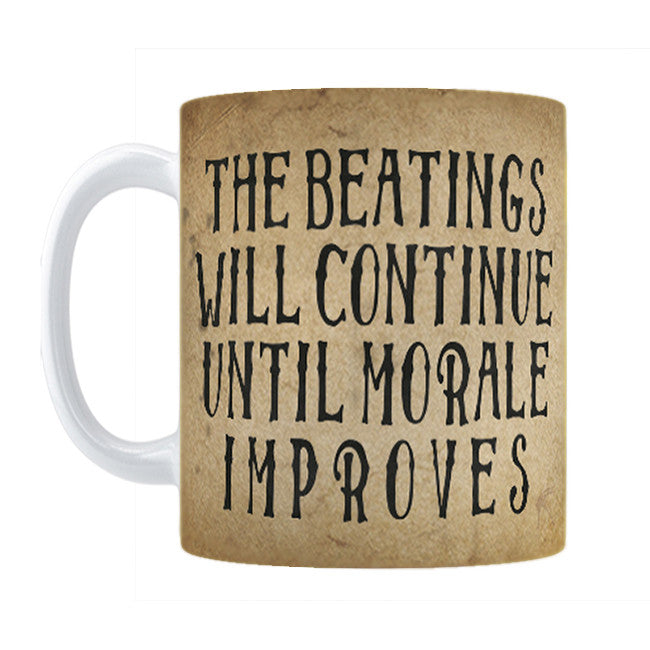 Beatings Will Continue Mug - Domestic Platypus