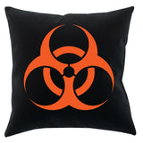 Biohazard Black Throw Pillow - Domestic Platypus