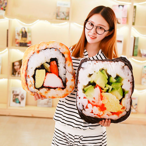 Realistic Sushi Pillows