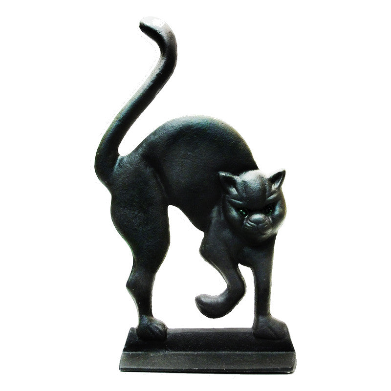 Cast Iron BLACK CAT Door Stop - Domestic Platypus