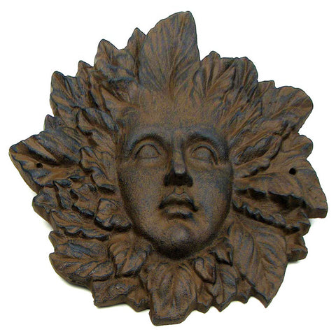 Garden Gods Cast Iron GODDESS FACE Plaque - Domestic Platypus