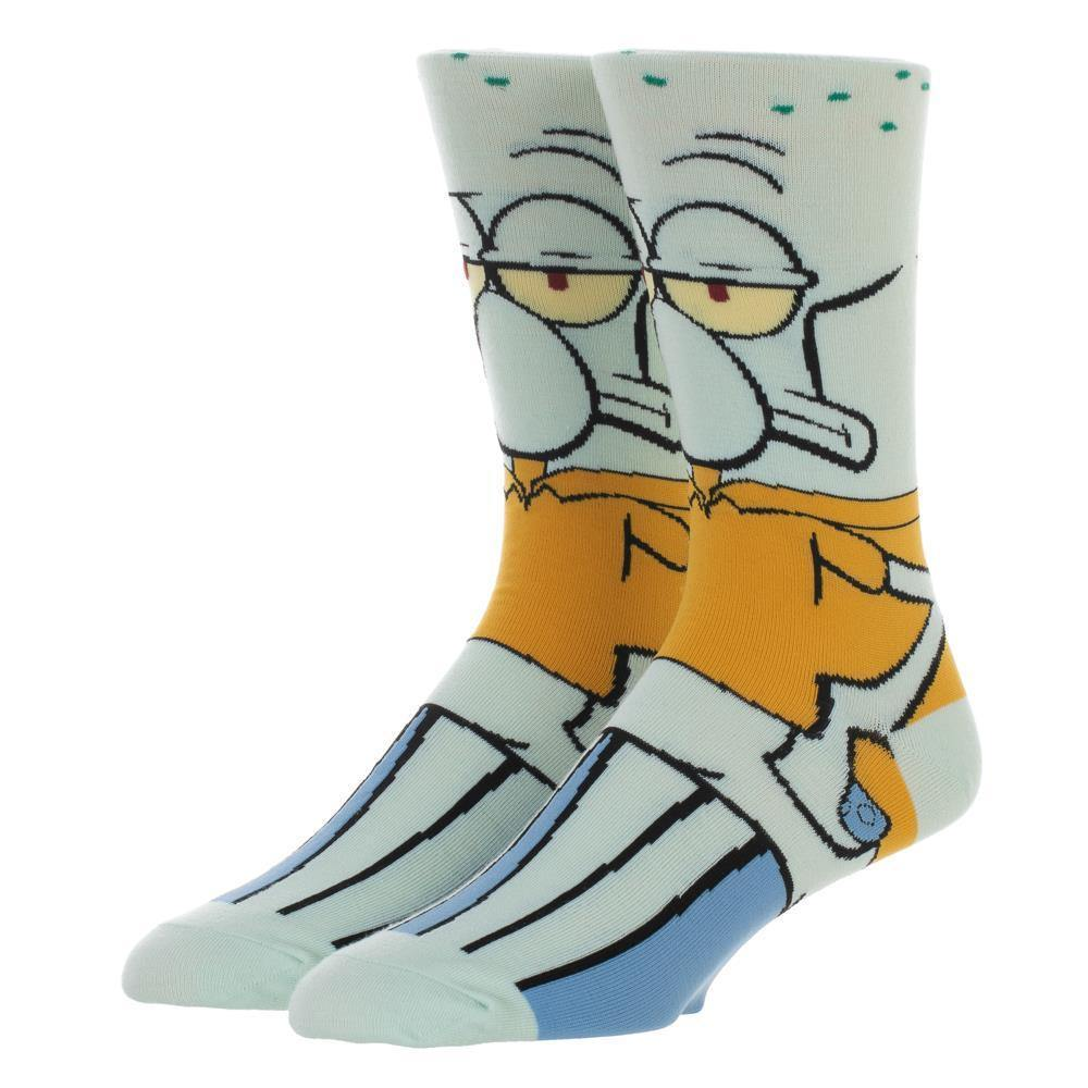 Spongebob Squarepants Squidward Crew Socks