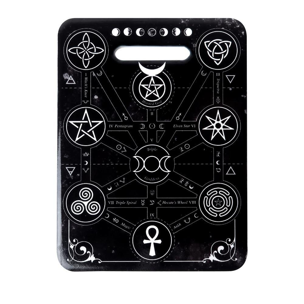 Magick Symbols Cutting Board, Alchemy Gothic