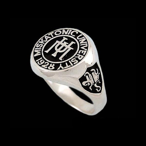 Lovecraft Miskatonic University Class Ring - Sterling Silver