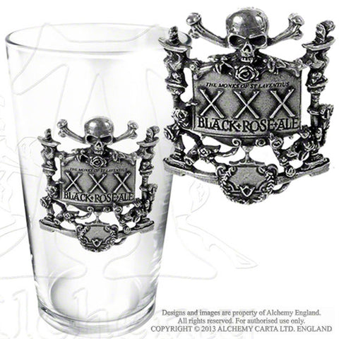 Alchemy Gothic BLACK ROSE ALE Pint Glass