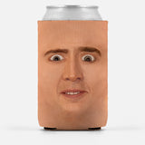 Creepy Cage Face Can Cooler