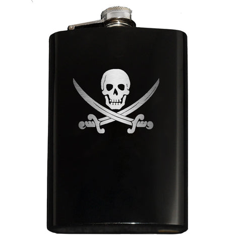 Calico Jack Jolly Roger Flask