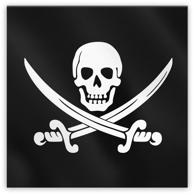 Calico Jack Pirate Jolly Roger Magnet - Domestic Platypus