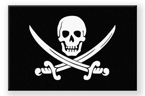 Calico Jack Jolly Roger Floor Mat - Domestic Platypus
