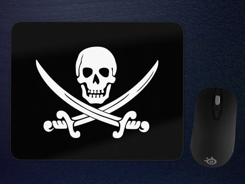 Calico Jack Pirate Jolly Roger Mousepad