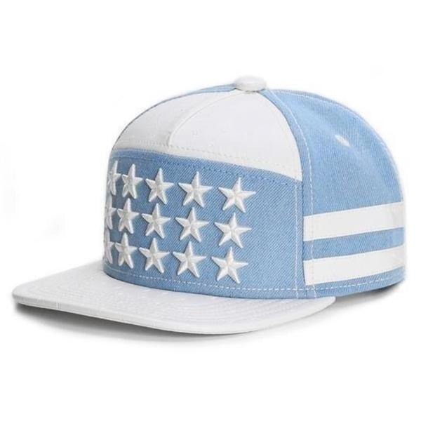 Carolina Blue Stars and Stripes Fashion Hat