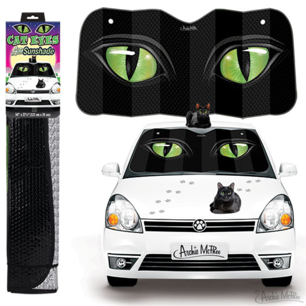 Cat Eyes Auto Sunshade - Domestic Platypus