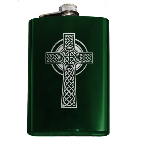 Celtic Cross Flask