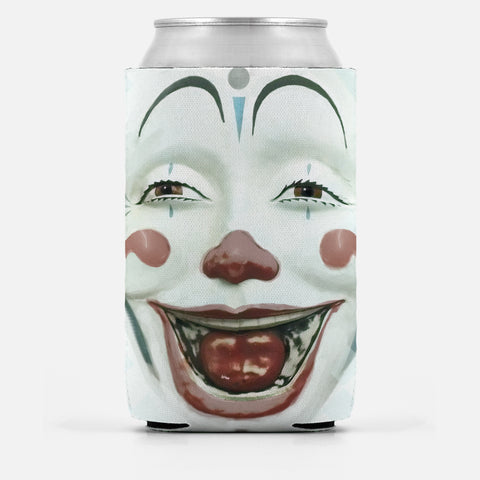 Creepy Clown Face Can Cooler