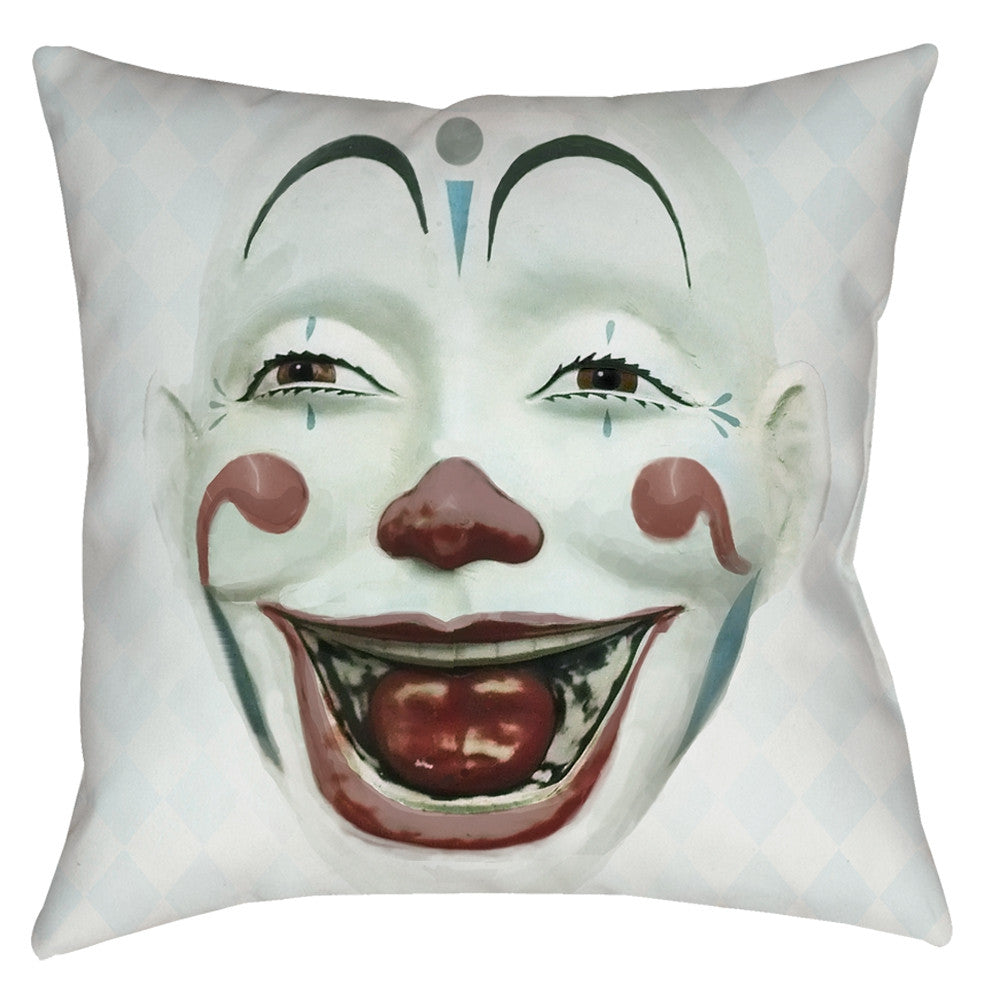 Clown Face Throw Pillow - Domestic Platypus