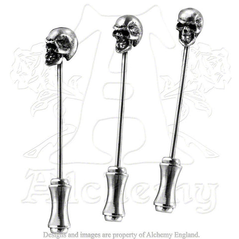 Alchemy MEMLING SKULL Dress Pins