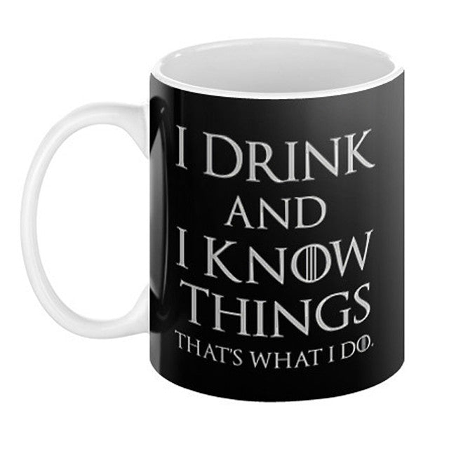 I Drink and I Know Things Mug - Domestic Platypus