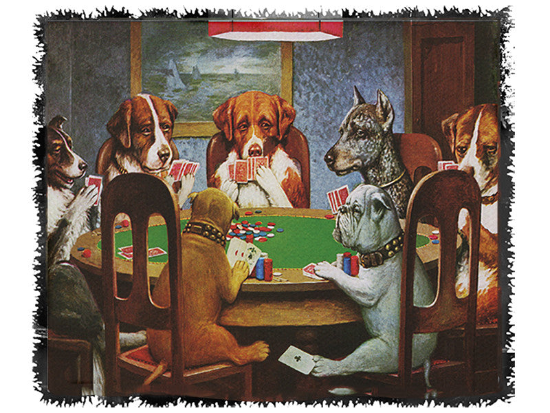 Dogs Playing Poker Throw - Domestic Platypus