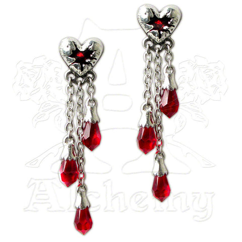 Alchemy Gothic BLEEDING HEART Earrings - Domestic Platypus
