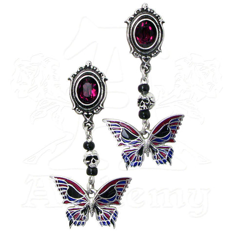 "Alchemy Gothic ""Death's Head Butterfly"" Earrings - Domestic Platypus"
