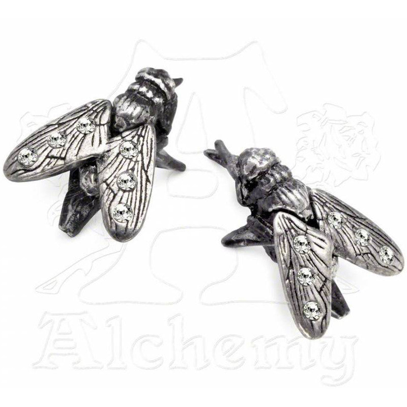 Alchemy Gothic MUSCA MICO Fly Stud Earrings - Domestic Platypus