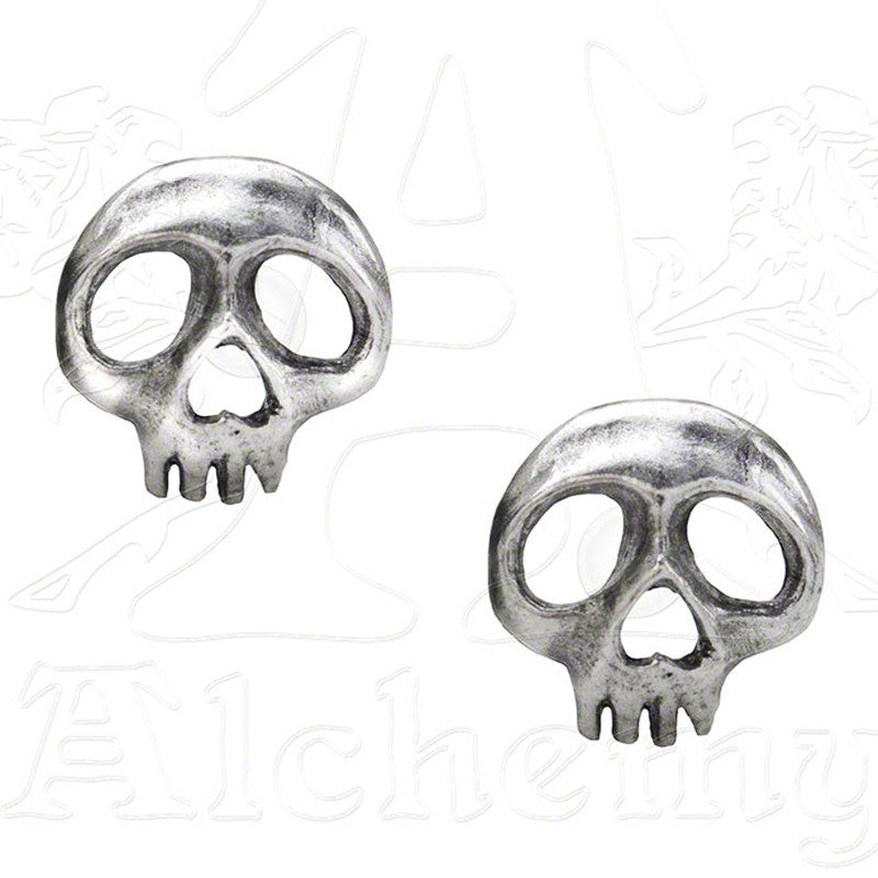 Alchemy SKULLY Stud Earrings - Domestic Platypus