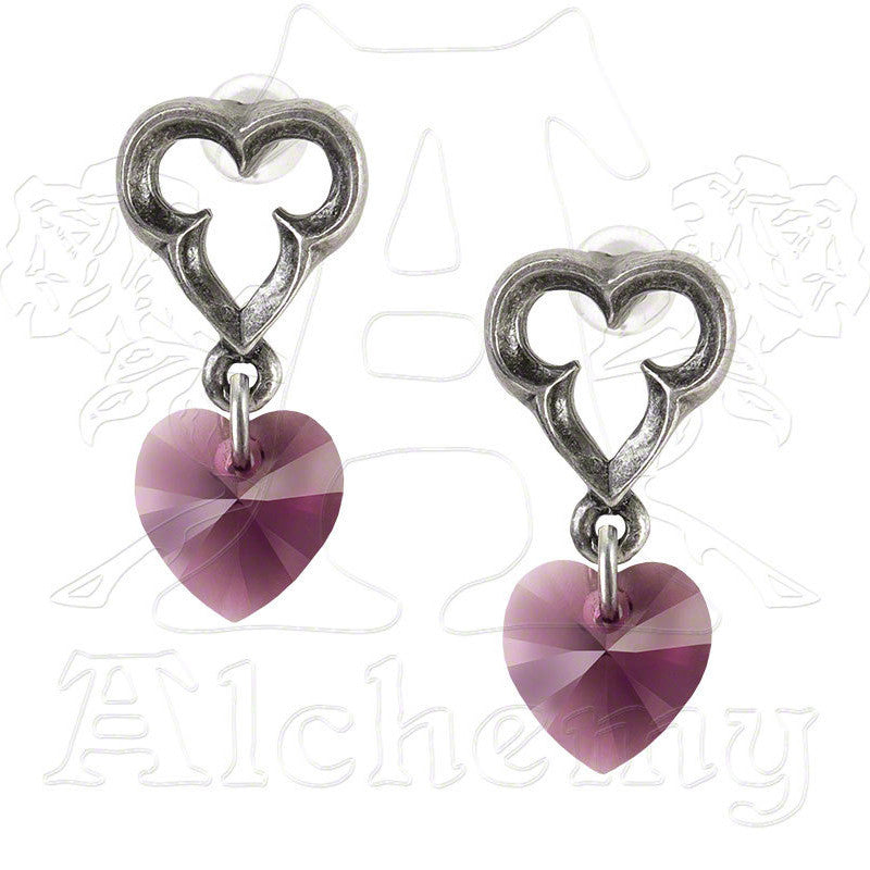 Alchemy Gothic ELIZABETHAN HEART Earrings - Domestic Platypus