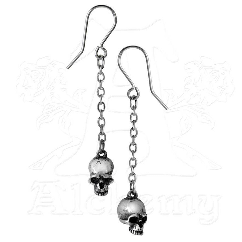 Alchemy Gothic DEADSKULL Drop Earrings - Domestic Platypus
