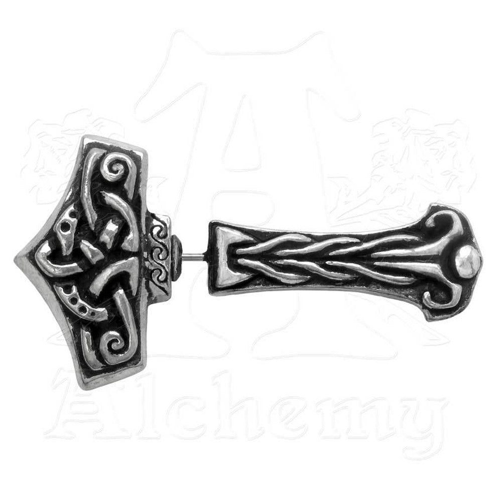 Alchemy Gothic THUNDERSTICK Faux Stretcher Earring - Domestic Platypus