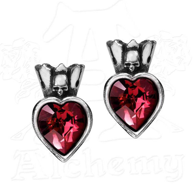Claddagh By Night Heart Stud Earrings - Domestic Platypus