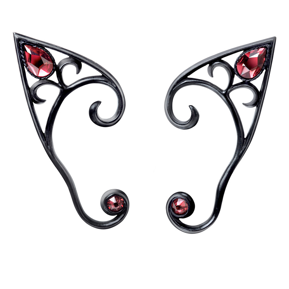 Black Elvyn Ear Wraps, Alchemy Gothic