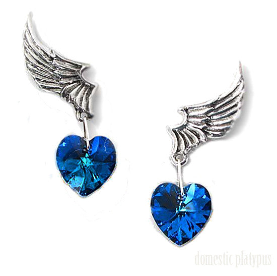 Alchemy UL17 Winged Heart EL CORAZON Stud Earrings - Domestic Platypus