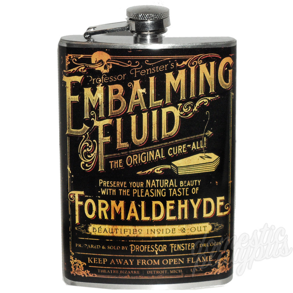 Theatre Bizarre EMBALMING FLUID Flask - Domestic Platypus