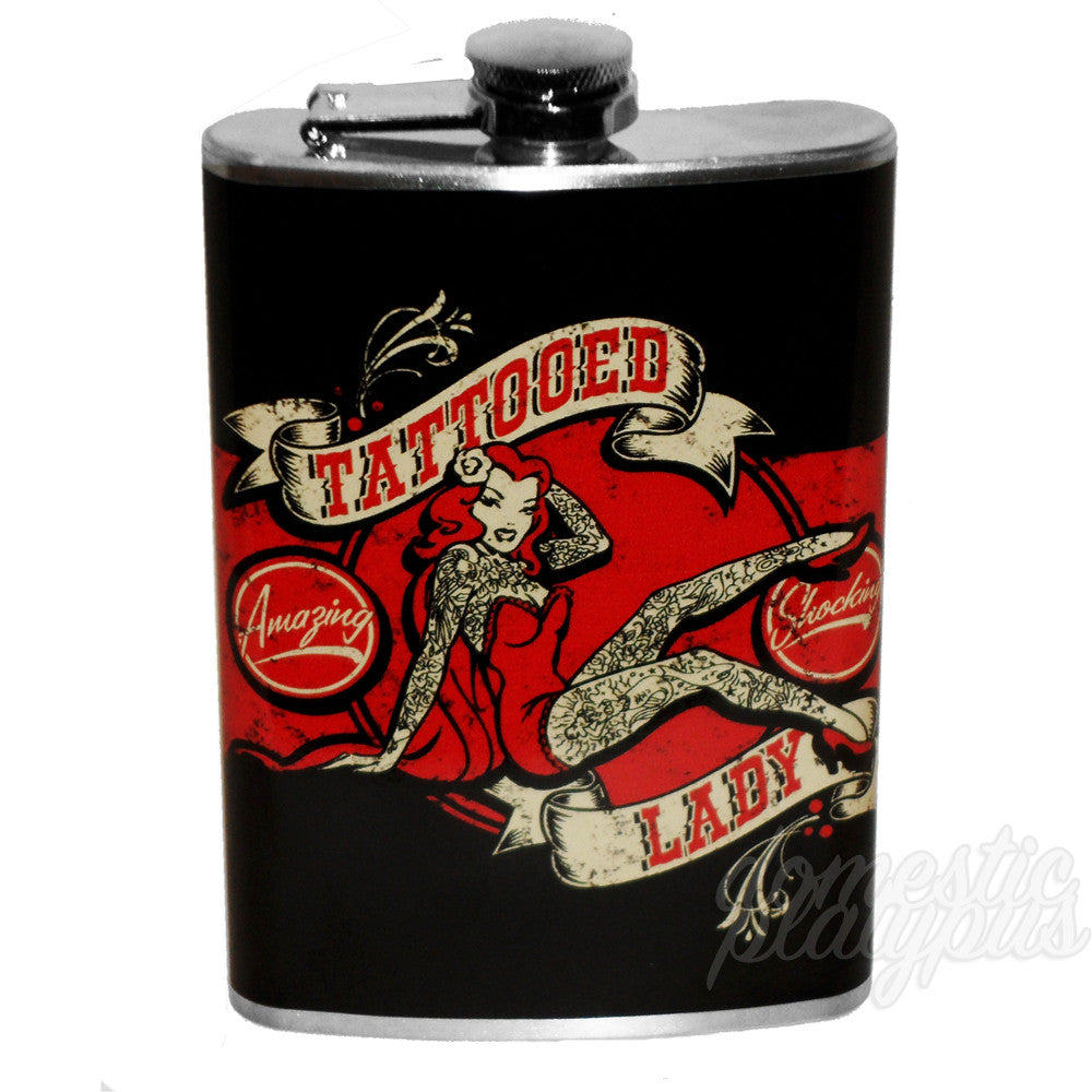 Tattooed Lady Flask - Domestic Platypus